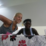 bringing new beds to the orphanage
